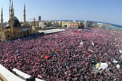 Zedernrevolution 2005 im Libanon